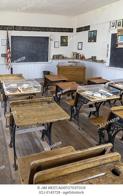 Torrington, Wyoming - The Midway School House at the Homesteaders Museum. The one-room school operated from 1928 to 1949