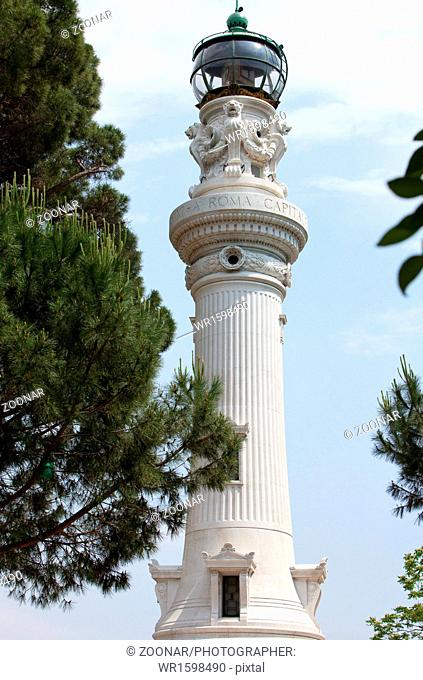 Faro de Gianicolo- Manfredi Lighthouse in Rome, It