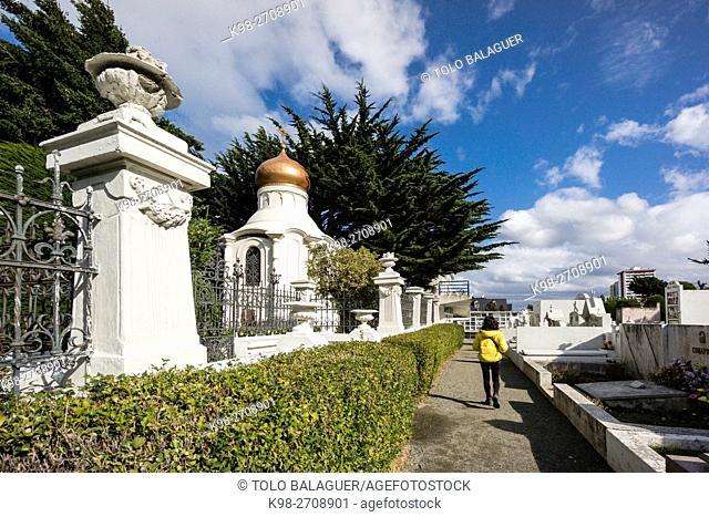 cementerio municipal Sara Braun, 1894, Punta Arenas -Sandy Point-, Patagonia, República de Chile,América del Sur