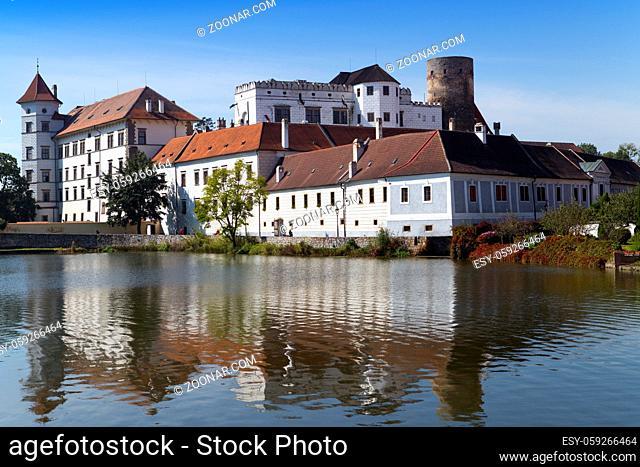 Jindrichuv Hradec castle in South Bohemia, Czech Republic