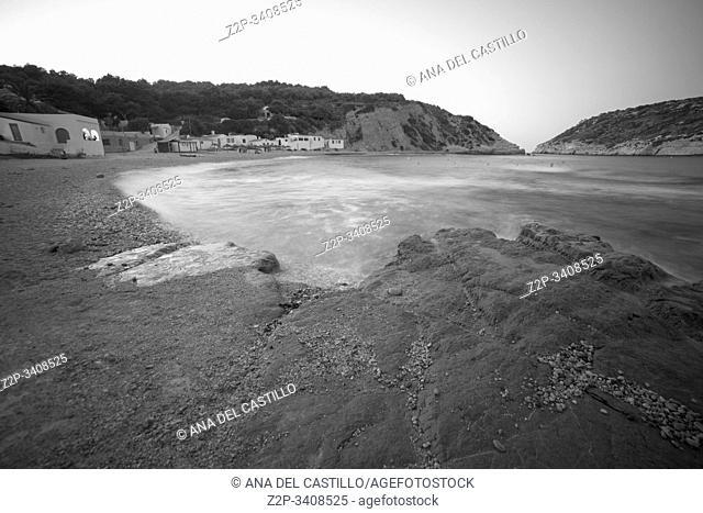 Portitxol Island and Barraca beach in Javea, Alicante province Spain