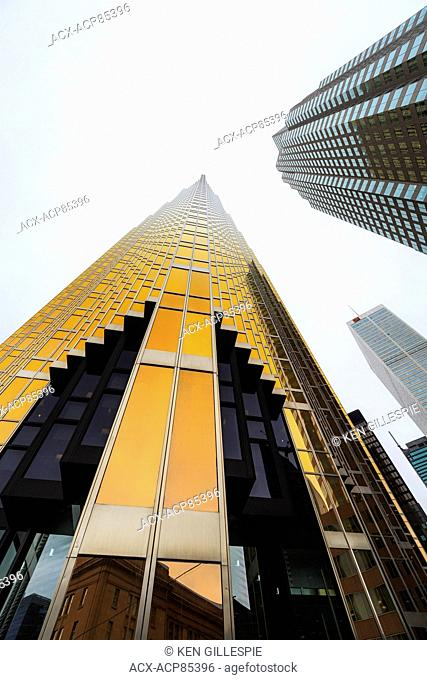 Office towers in the financial district of Toronto, Ontario, Canada
