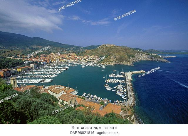 View of Porto Ercole dominated by Fort Filippo, Monte Argentario, Tuscany, Italy, 16th century