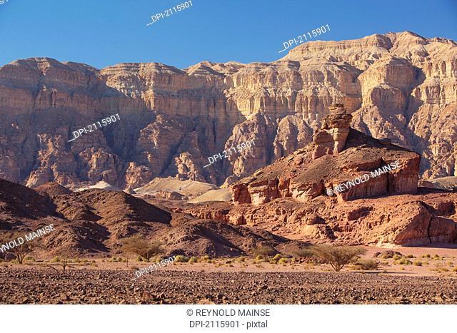 Spiral hill and cliffs, timna park arabah israel