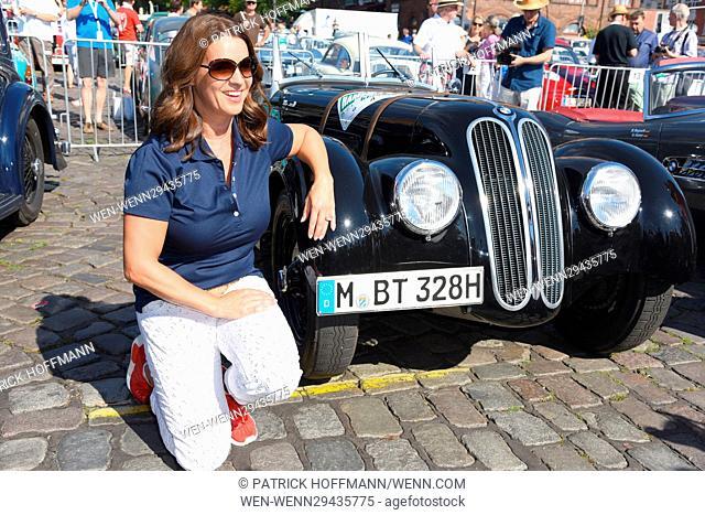 Auto Bild Oldtimer Klassik Rallye Hamburg-Berlin 2016 at Fischauktionshalle. Featuring: Katarina Witt Where: Hamburg, Germany When: 25 Aug 2016 Credit: Patrick...