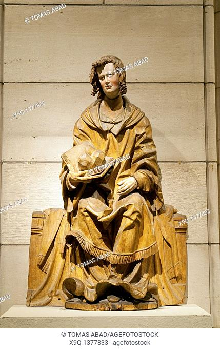 Saint Stephen, ca  1525-30, Hans Leinberger, German, active 1510-1530, South German, Made in Lower Bavaria, Limewood with traces of paint Overall: 33 x 21 1/2 x...