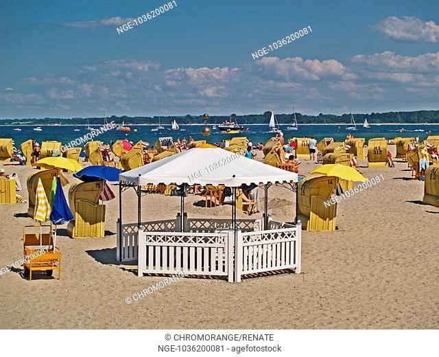 Beach life in Travemünde, Schleswig Holstein, Germany, Europe