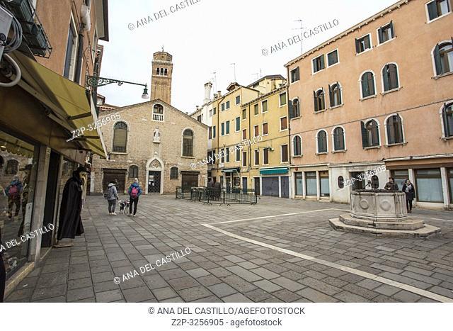 Venice, Veneto, Italy : Cityscape at a winter morning. Dorsoduro quarter
