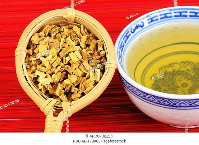Cup of Doubleteeth Pubescent Angilica Root tea, Angelicae pubescentis Radix, Du Huo