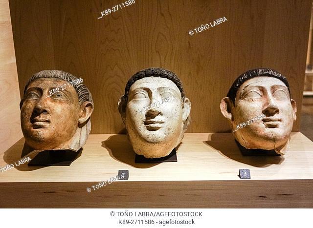 Sarcophagus top. Egyptian Ptolemaic collection. Louvre Museum. Paris. France