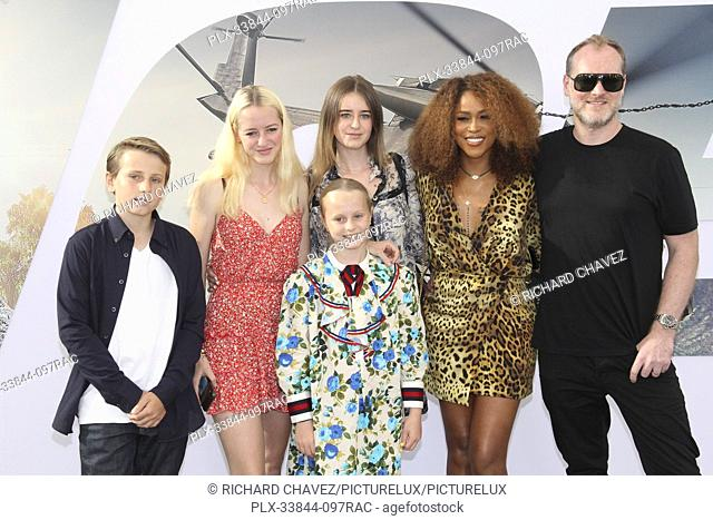 """Eve and family at the Universal Pictures World Premiere of """"""""Fast & Furious Presents: Hobbs & Shaw"""""""". Held at the Dolby Theater in Hollywood, CA, July 13, 2019"""