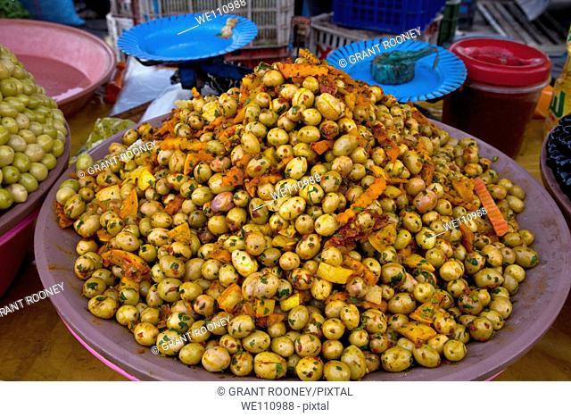 Olives for sale, Sunday market, Taroudant, Morocco