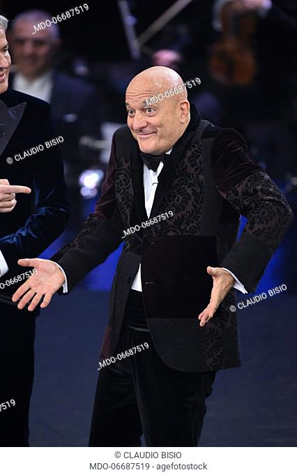 Italian host and comedian Claudio Bisio at the third evening of the 69th Sanremo Music Festival. Sanremo (Italy), February 7th, 2019