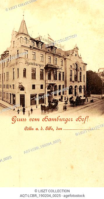 Restaurants in Landkreis Meißen, Horse-drawn carriages in Germany, 1897, Meißen, Hamburger Hof
