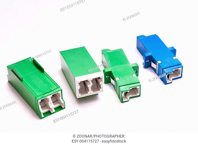 Group of fiber optic adapters SC and LS