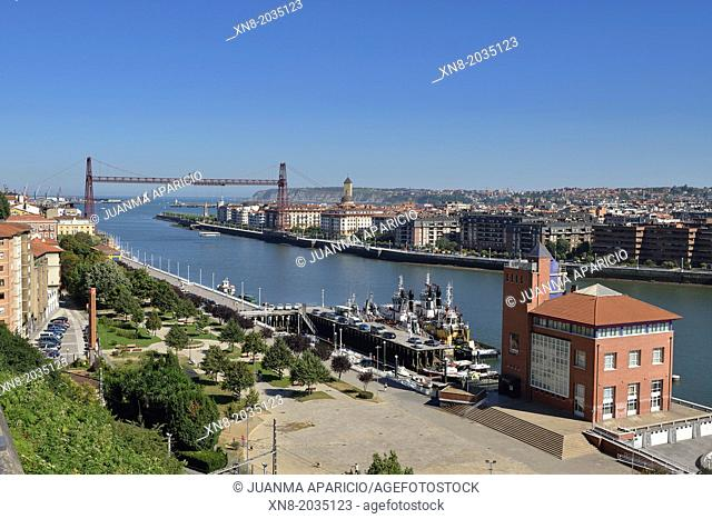 Bizkaia Bridge (Bizkaiko Zubia), UNESCO World Heritage, Portugalete, Basque Country, Euskadi, Spain.Europe