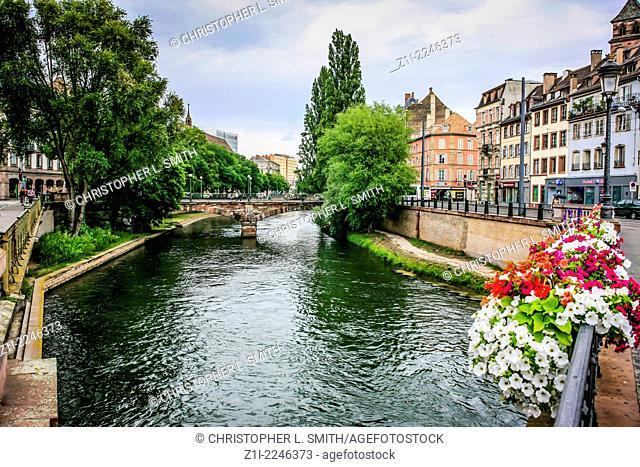 The River Ille runnning through Strasbourg France