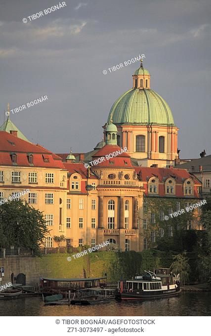 Czech Republic, Prague, Old Town, skyline, Vltava River,