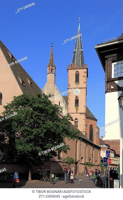 France, Alsace, Strasbourg, St-Pierre-le-Vieux, church