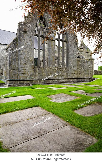 Ireland, County Clare, Ennis, Ennis Friary, 13th century, exterior