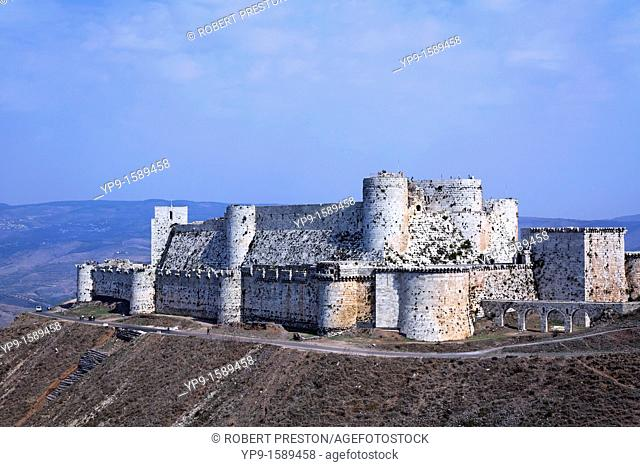 The crusader castle Krak Des Chevaliers, Syria