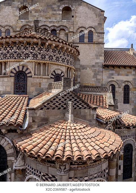 Notre Dame du Port. Romanesque church. Clermont Ferrand. Puy de Dome. Auvergne. France. Europe