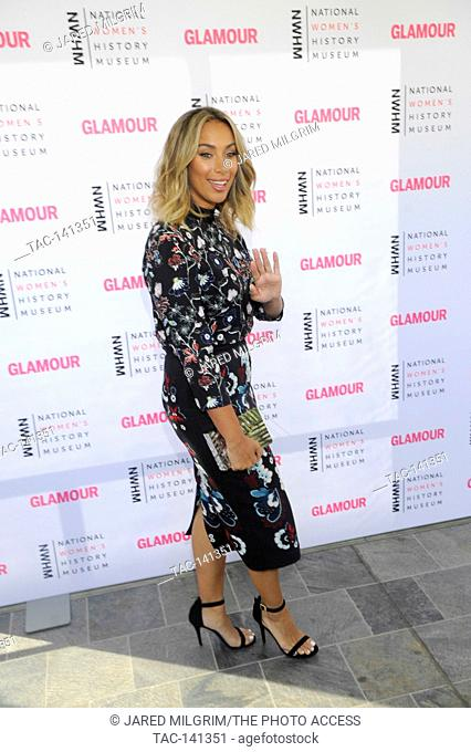 Singer Leona Lewis attends the National Women's History Museum's 4th Annual 'Women Making History' Brunch at the Skirball Cultural Center on September 19th
