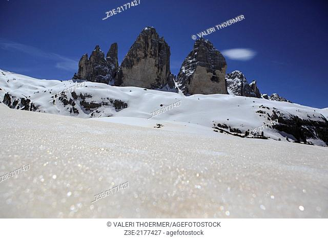 Drei Zinnen alias Tre Cime area in South Tirol, Italy
