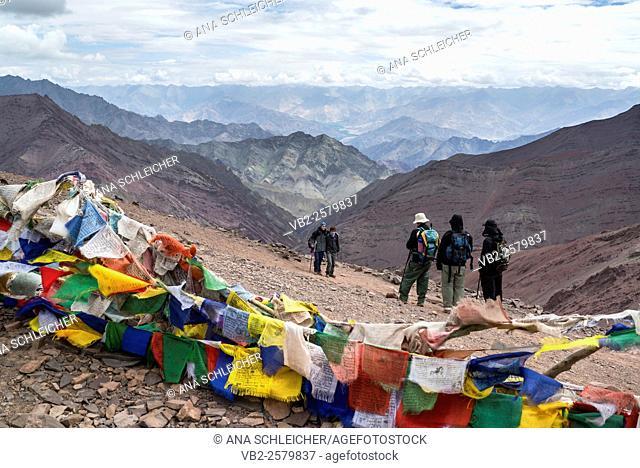 Kongmaru-la (5200m). Trekking in Markha valley (Laddakh, India)