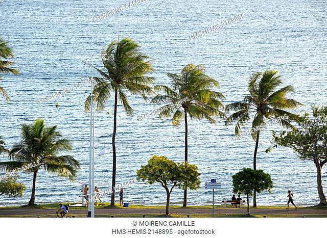 France, New Caledonia, Grande-Terre, Southern Province, Noumea, Anse Vata Promenade Roger Laroque