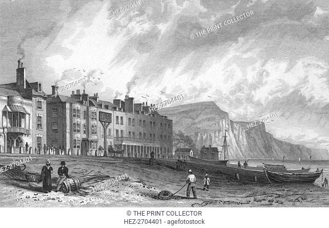 'The York Hotel, and Library, Sidmouth', 1832. Creator: P Heath