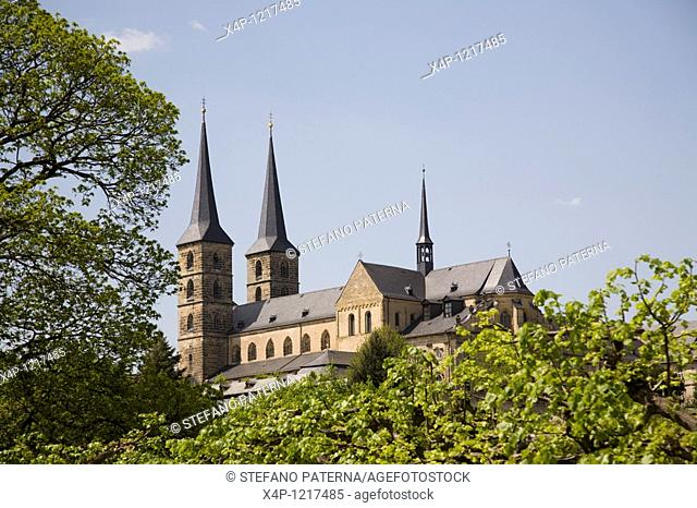 At the top of Michaelsberg is the Benedictine Kloster St Michael, a former monastery and now an old people home, Bamberg, Germany