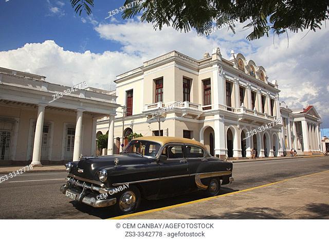 View to the Tomas Terry Theatre at Jose Marti Park, Plaza De Armas, Cienfuegos, Cuba, West Indies, Central America