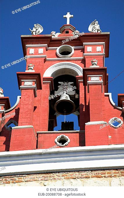 Bell tower, Iglesia de San Juan de Dios, near the Zocalo