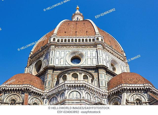 Il Duomo Di Firenze, completed in 1436 with its huge dome by Filippo Brunelleschi, Florence, Tuscany, Italy, Europe