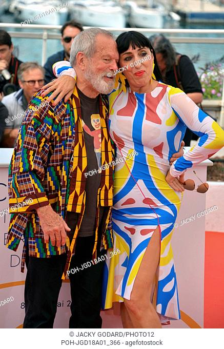 Crew of the film 'The Man Who Killed Don Quixote': Terry Gilliam, Rossy de Palma Photocall of the film 71st Cannes Film Festival May 19, 2018 Photo Jacky Godard