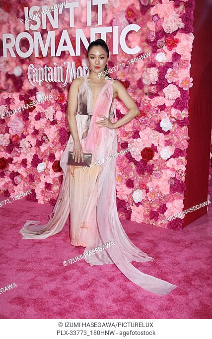 """Constance Wu 02/11/2019 The World Premiere of """"""""Isn't It Romantic"""""""" held at the Theatre at Ace Hotel in Los Angeles, CA Photo by Izumi Hasegawa / HNW /..."""