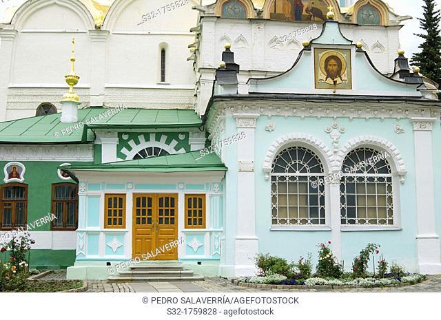 interior building facades St Sergius Trinity Monastery, Sergiev Posad, Russia