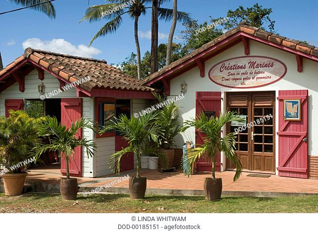 CARIBBEAN, WINDWARD ISLANDS: Martinique, Trois Ilets, Village de la Poterie - shops