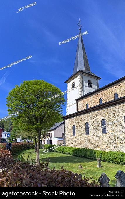 Europe, Luxembourg, Diekirch, Saeul, Church of the Assumption of the Blessed Virgin Mary
