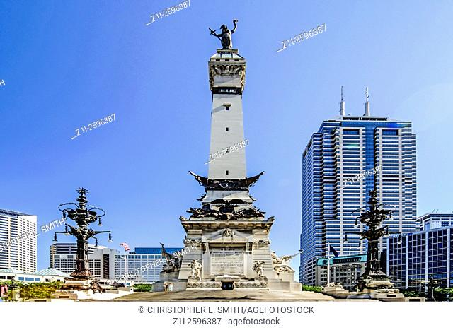 The soldiers and sailors Monument in monument cirlce, Indianapolis