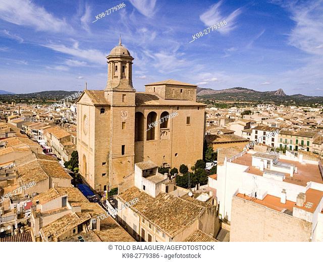 Llucmajor, Sant Miquel Parish church. Mallorca, Balearic Islands