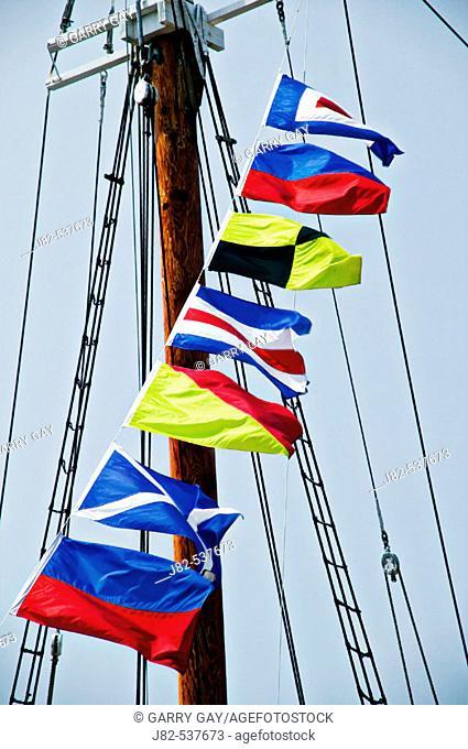 Ship flags Lunenburg, Canada