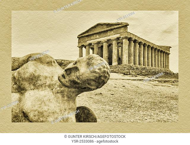 The Temple of Concordia, Tempio di Concordia, was built about 440 to 430 BC. The temple belongs to the archaeological sites of Agrigento