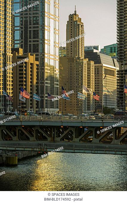 Bridge over Chicago River, Chicago, Illinois, United States
