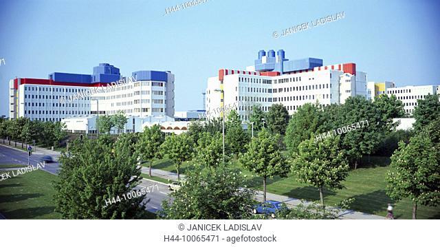 10065471, Germany, Europe, building, construction, green area, modern, architecture, modern, Munich, Bavaria, Neuperlach, Siem