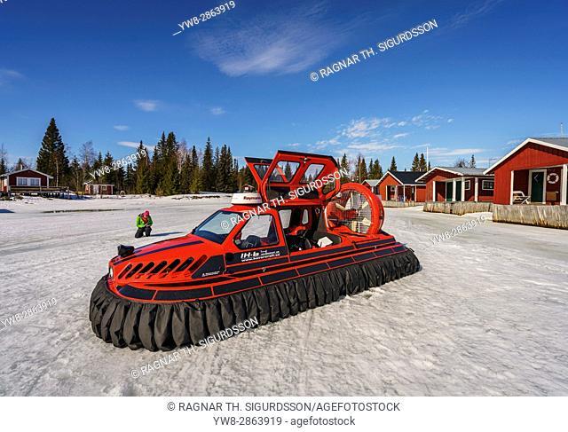 Hovercraft, Lapland, Sweden