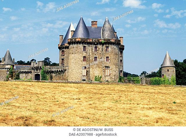 View of Chateau de Landal, Broualan, Brittany. France 12th-19th century
