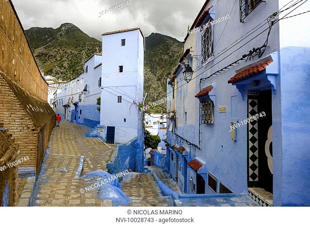 Streets and alleys of the Medina of Chefchaouen, Morocco
