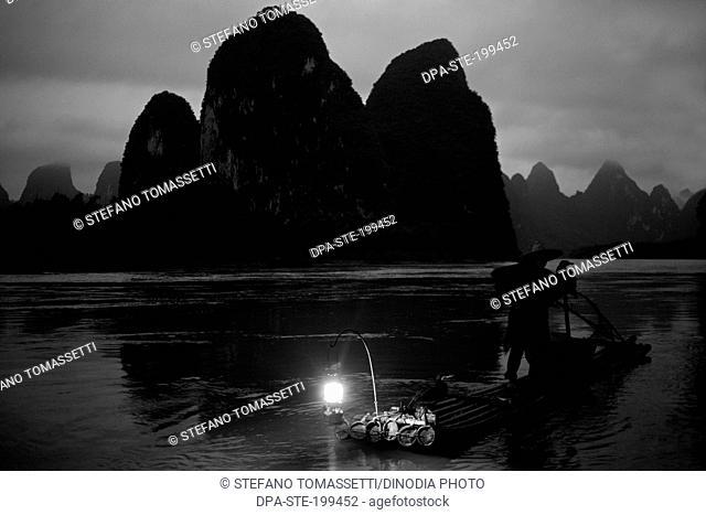 cormorant fisherman li river, xingping, china